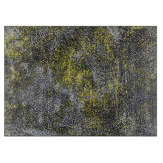 Black and White Ink on Yellow Background Boards