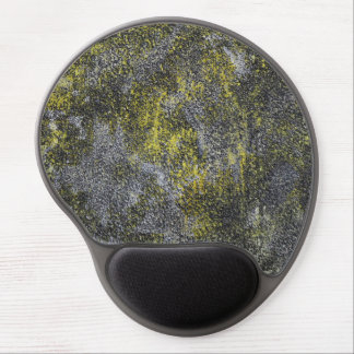 Black and White Ink on Yellow Background Gel Mouse Pad
