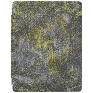 Black and White Ink on Yellow Background iPad Cover
