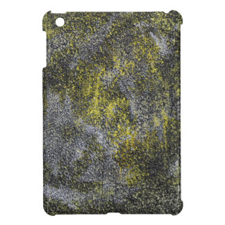 Black and White Ink on Yellow Background iPad Mini Cases