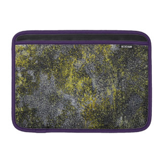Black and White Ink on Yellow Background MacBook Sleeve