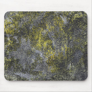 Black and White Ink on Yellow Background Mouse Pad