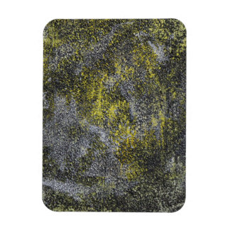 Black and White Ink on Yellow Background Rectangular Photo Magnet