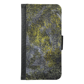 Black and White Ink on Yellow Background Samsung Galaxy S6 Wallet Case