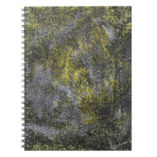 Black and White Ink on Yellow Background Spiral Notebook