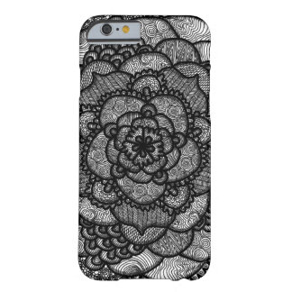 Black and White Intricate Mandala Barely There iPhone 6 Case