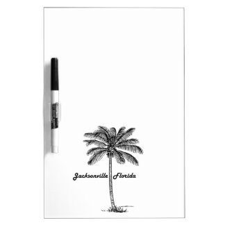 Black and White Jacksonville & Palm design Dry Erase Board