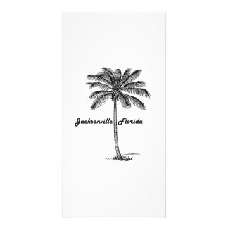 Black and White Jacksonville & Palm design Personalized Photo Card
