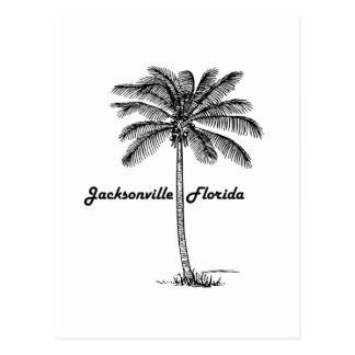 Black and White Jacksonville & Palm design Postcard