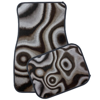 Black and white Jasper stone Car Mat