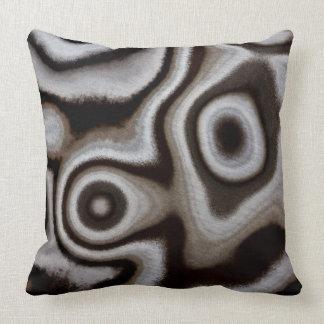 Black and white Jasper stone Throw Pillow
