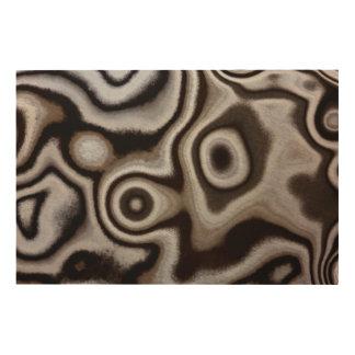 Black and white Jasper stone Wood Print