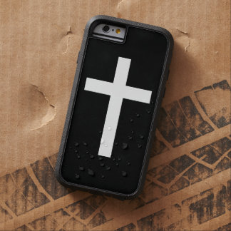 Black and White Jesus Christ Cross Tough Xtreme iPhone 6 Case