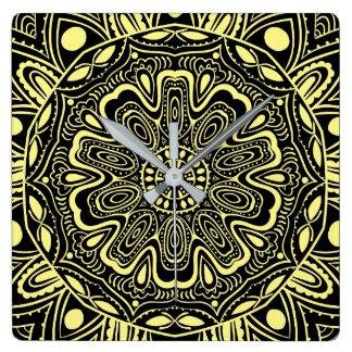 Black and White kaleidoscope Clocks