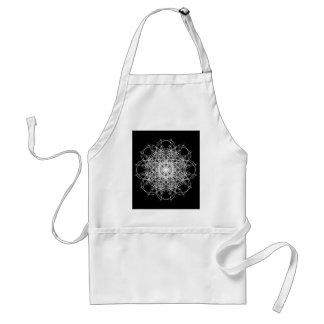 Black and White Kaleidoscope Flower Star Standard Apron