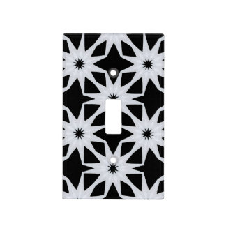Black And White Kaleidoscope Light Switch Cover
