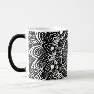 Black and White kaleidoscope Magic Mug