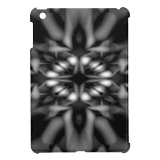 Black and white kaleidoscope pattern iPad mini cover