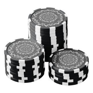 Black and White kaleidoscope Poker Chips