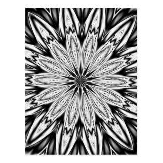 Black And White  Kaleidoscope Postcard