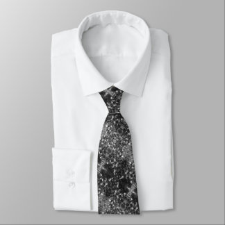 Black and White Kaleidoscope Tie