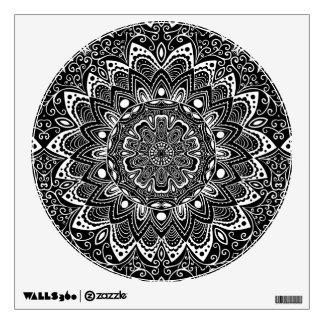 Black and White kaleidoscope Wall Sticker