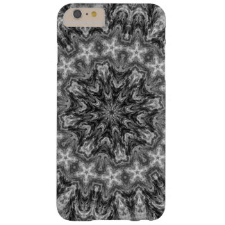 BLACK AND WHITE KALEIDOSCOPIC GEOMETRIC MANDALA BARELY THERE iPhone 6 PLUS CASE
