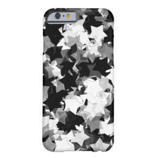 Black and White Kawaii Stars Background Barely There iPhone 6 Case