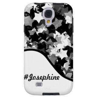 Black and White Kawaii Stars Background Galaxy S4 Case
