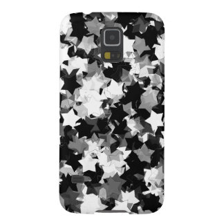 Black and White Kawaii Stars Background Galaxy S5 Covers