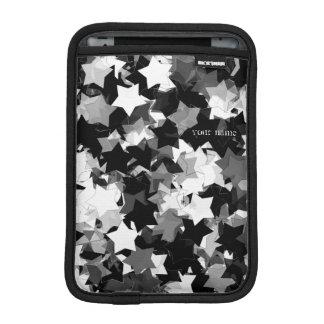 Black and White Kawaii Stars Background Sleeve For iPad Mini