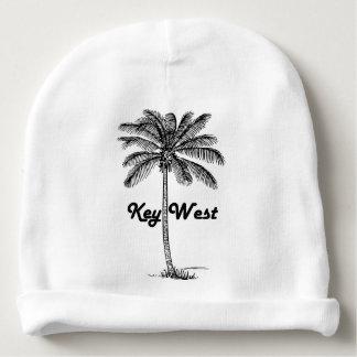Black and White Key West Florida & Palm design Baby Beanie
