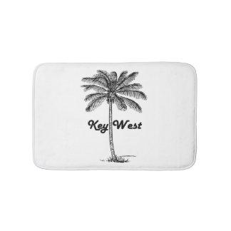 Black and White Key West Florida & Palm design Bath Mat