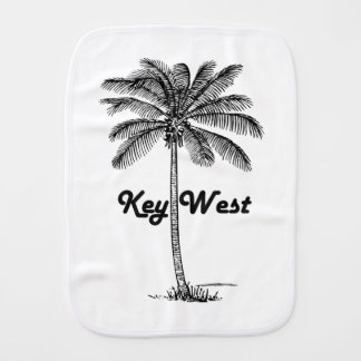 Black and White Key West Florida & Palm design Burp Cloth