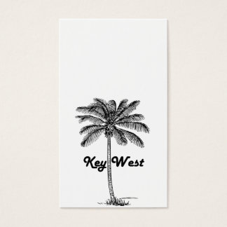 Black and White Key West Florida & Palm design Business Card