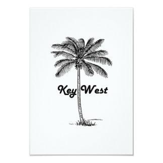 Black and White Key West Florida & Palm design Card