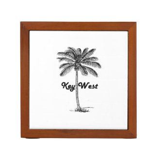 Black and White Key West Florida & Palm design Desk Organizer