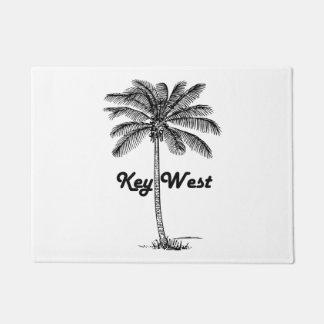 Black and White Key West Florida & Palm design Doormat