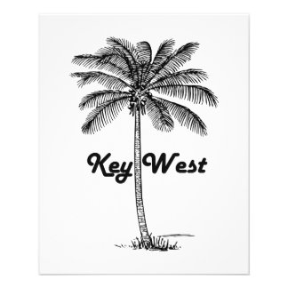 Black and White Key West Florida & Palm design Flyer