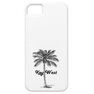 Black and White Key West Florida & Palm design iPhone 5 Case