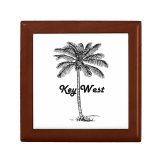 Black and White Key West Florida & Palm design Jewelry Boxes