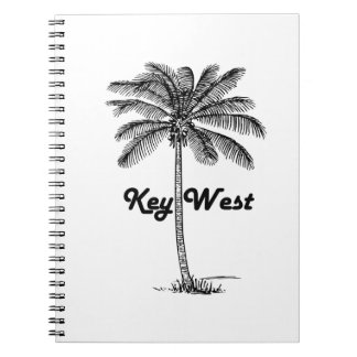 Black and White Key West Florida & Palm design Note Books