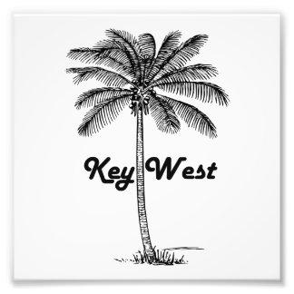 Black and White Key West Florida & Palm design Photo