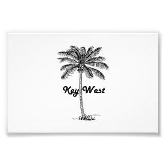 Black and White Key West Florida & Palm design Photo Print