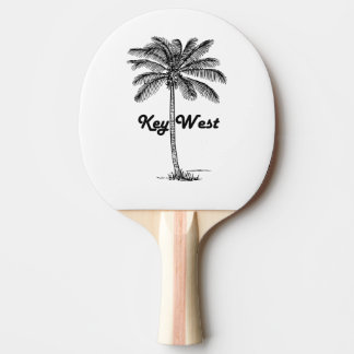Black and White Key West Florida & Palm design Ping Pong Paddle
