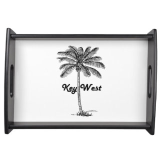 Black and White Key West Florida & Palm design Serving Tray