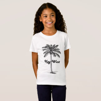 Black and White Key West Florida & Palm design T-Shirt