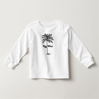 Black and White Key West Florida & Palm design Toddler T-shirt