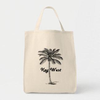 Black and White Key West Florida & Palm design Tote Bag