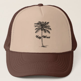 Black and White Key West Florida & Palm design Trucker Hat